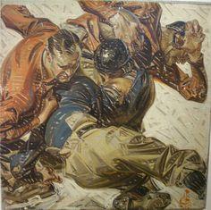 J.C. Leyendecker, original oil painting, illustration art for Kuppenheimer Style Booklet.