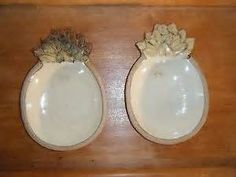 Stoneware Tropical Pineapple Shaped Bowl Treat Candy Dish Tray 8 3 4 ...
