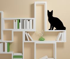 Vinyl Wall Decal Sticker Cat Shadow #AC198 | Stickerbrand wall art decals, wall graphics and wall murals.