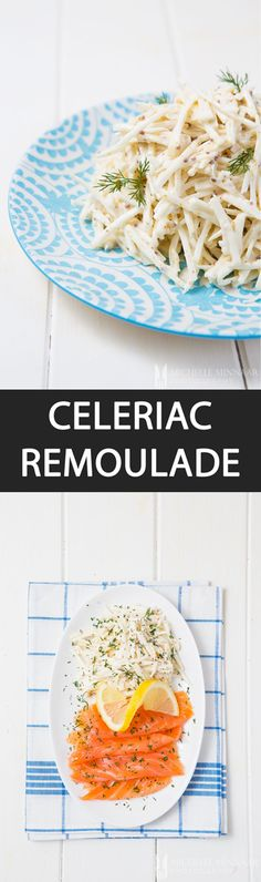 Celeriac Remoulade {NEW RECIPE} Celeriac remoulade comprises celeriac, mayonnaise, cream and mustard. It's best served with cold meats & fish such as smoked salmon and ham. Perfect lunch!