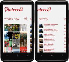 Pinterest App Concept for WP7