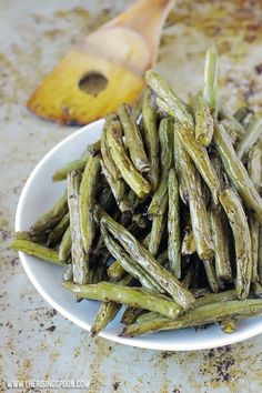 (Omit oil) Balsamic Oven-Roasted Green Beans -- If you have a roasted veggie hater in your home, try splashing some balsamic vinegar on them next time you fix a batch and you just may win them over.