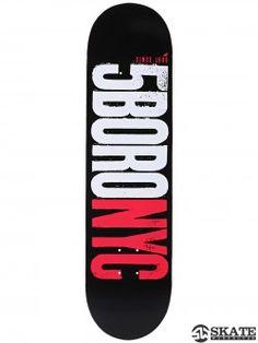 5Boro Letterpress Black/Red Deck 8.25 x 32