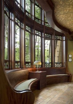Beautiful windows & built-in benches in a Philadelphia-area Arts &…