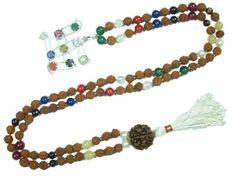 Yoga Rudraksha Beads Mala Nine Planets (Navartna) Necklace ~ Empowers Good Effects of All Planets