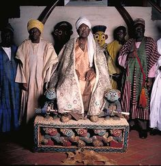 El Hadj Seidou Njimoluh Njoya, Sultan of Fumban and Mfon of the Bamun, Cameroon.
