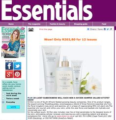 Spotted in Essentials - subscribe and stand a chance to win a Sh'Zen PytoExquisites hamper. Beauty Shop, Hamper, No Cook Meals, Zen, Fashion Beauty, Essentials, Sayings, Shopping, Lyrics