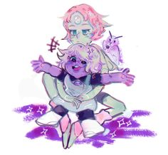 Kay, I'm getting the feeling Amethyst and Pearl were broken after Rose... passed... *goes to the corner and cries, yes, again*
