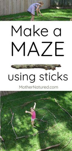 Fun outdoor activity for kids // Maze construction play activity