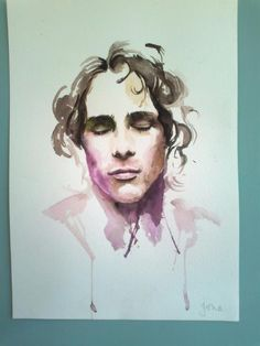 Jeff Buckley watercolor, My sister painted this for me, just randomly found it on Pinterest! that's funny!