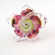 Speckle Pink Lampwork Ring  Angelfire Art by angelfireartglass, $20.00