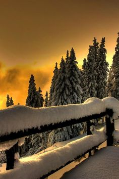 Sunset Fence, Blackwater Falls, West Virginia photo via vera Winter Szenen, Winter Sunset, Winter Magic, Winter Christmas, Blackwater Falls, Snow Scenes, Winter Beauty, Belle Photo, Beautiful Landscapes