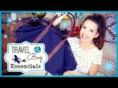 Lots of great tips for handy travel products |▶ My Travel Bag Essentials! ✈ - YouTube