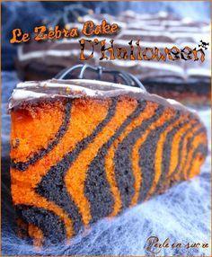 Gâteau d'Halloween facile (zebra cake)                                                                                                                                                                                 Plus