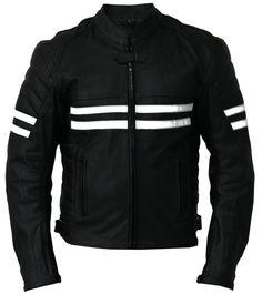 Men EHS Stylish Slim-fit Front YKK Zipper Lambskin Biker Leather Jacket # MJ164 #Handmade #BasicJacket