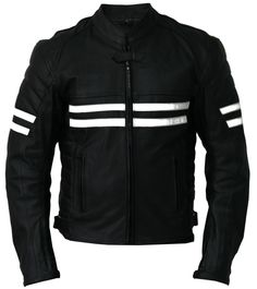 Mens Leather Jackets Motorcycle Bomber Biker Real Lambskin Leather Jacket for Men MJ193