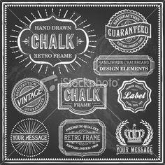 Vintage Chalkboard Frames Royalty Free Stock Vector Art Illustration