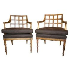 French arm chairs.