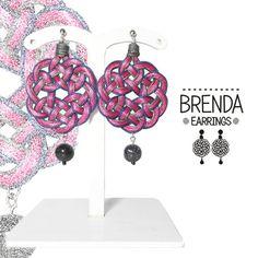 Brenda 1. Orecchini in tessuto. Leggeri. Rotondi. Round earrings. di FabylaStore su Etsy