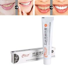 Toothpaste Natural Bamboo Charcoal All-purpose Teeth Care Whitening Clean  Charcoal Bamboo Charcoal Bright Toothpaste #Affiliate