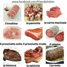 Italian Phrases, Italian Words, Italian Dishes, Italian Recipes, Learning Tips, Italian Vocabulary, Language Lessons, Italian Language, Learning Italian