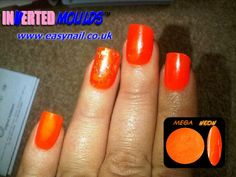 Our MEGA NEON Orange acrylic nail art powder!    Clients LOVE this colour and if you mix a little gold or orange clitter to your powder you can get that extra special look :-)    Powder available from www.thenailartist.co.uk