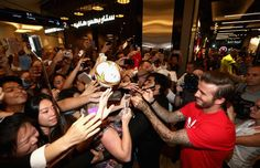 David Beckham opens Adidas Store in Dubai Fan Store, Global Icon, Poster Boys, Sports Brands, David Beckham, Dubai, Adidas, Magnifying Glass, September