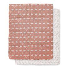 Online Boxkleed 77x97 cm Walvis - Zacht Roze kopen bij Little Greeny ✓ ECO vriendelijke webshop voor bewuste ouders ✓ Bestel Boxkleed 77x97 cm Walvis - Zacht Roze Online!