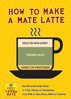 Making a mate latte is super easy! All you need is a brew of yerba mate and your favorite creamer and sweetener. We always go organic, right down to our shade-grown mate. guayaki.com