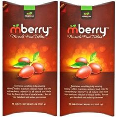 Food & Beverages Expressive Mberry Miracle Fruit Tablets 10-count New Home & Garden
