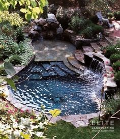 Small Natural Pool Designs Swimming Pools Backyard Landscaping Great Looking Exotic Ideas - dragonswatch. Outdoor Pool, Outdoor Gardens, Small Pool Design, Natural Swimming Pools, Natural Pools, Natural Garden, Small Pools, Small Inground Pool, Plunge Pool
