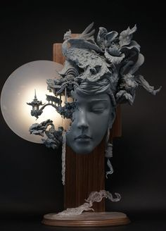 Sculpture Dreamlike Landscapes Grow from Sculptural Portraits by Yuanxing Liang Inspiration Art, Art Inspo, Colossal Art, Sculpture Clay, Art Sculptures, Surrealism Sculpture, Sculpture Portrait, Modern Sculpture, Art Plastique