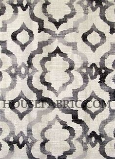 """Good Vibes Ebony - Kelly Ripa Home upholstery fabric or drapery fabric. Content; 100% Cotton . Repeat; 25.25"""" V x 13.50"""" H . Double rubs; 39,000. Width; 54."""