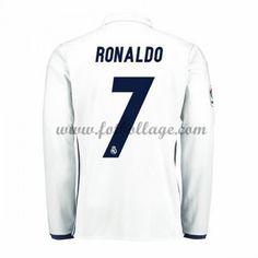 Fotbollströjor Real Madrid 2016-17 Ronaldo 7 Hemmatröja Långärmad