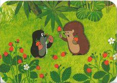 Postcard from the Czech Republic ~ Krtek ~ The Mole (in the Czech original called Krtek, or, for little mole, Krteček; Slovak Krtko) is an animated character in a series of cartoons, created by Czech animator Zdeněk Miler in 1956. www.postcrossing.com