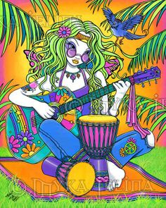 ☯☮ॐ American Hippie Bohemian Psychedelic Art ~ Hippie Chick Music