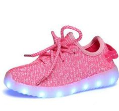 New Rechargeable USB Led Kids Light Up Yeezy Shoes 2016 Lace-Up Breathe Running Shoes High Quality Children Chaussure Led Enfant