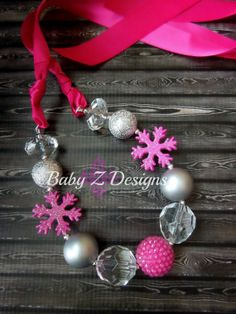 Frozen Inspired Satin Chunky Necklace  by babyzdesigns, $13.99