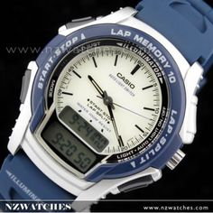 Casio Digital Analog Blue Sports Runners Watch WS-300-2E 038267649