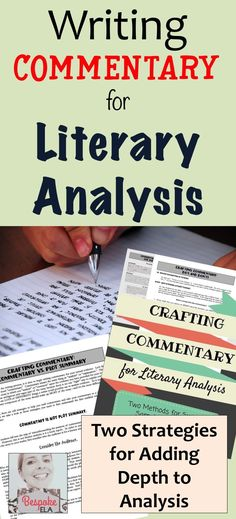 This product contains two methods for crafting commentary that will help them not only write analysis but also take it to a deeper level.This mini-lesson also contains sample paragraphs to show the difference between PLOT SUMMARY vs. COMMENTARY, peer revi
