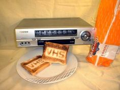 10 Creative Ways to Repurpose Your Old Tech Products --> VHS Video Machine Toaster