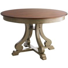 Pier 1 Imports Marchella Sage Round Dining Table ($319) ❤ liked on Polyvore featuring home, furniture, tables, dining tables, pier 1, table, circular table, pier 1 imports, round furniture and round dining table