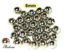 30 Silberperlen glatt 6mm metallfarben K101.6 von Schmuckmaterial