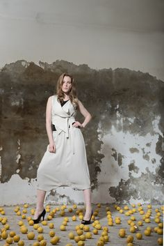 White Dress, Collection, Dresses, Fashion, Linen Fabric, Vestidos, Moda, Gowns, White Dress Outfit