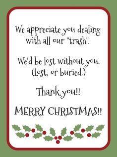 Gift idea for garbage collector - Christmas is the perfect time to show appreciation for the workers that make your life better!