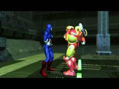 Funny Dramatic Captain America and Robot Battle