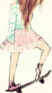 Uma difícil decisão entre o ballet  e o skate quando seus pais   pedem para sair do skate e seus amigos pedem para sair do ballet sendo que ama os dois e só pode escolher um.Mais nesse caso isso não acontece pois ela é uma bailarina  decidida. #amoskate