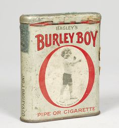 Burley Boy Pipe or Cigarette Tobacco Tin