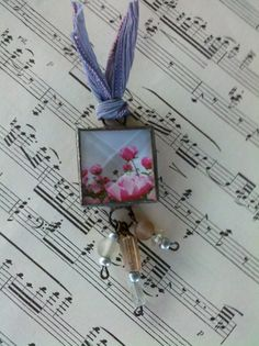 Stained Glass Soldered Glass Charm Pendant Breathe by Mystarrrs, $15.00