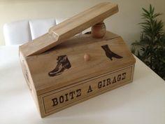 Unusual and decorative wooden shoe shine box x